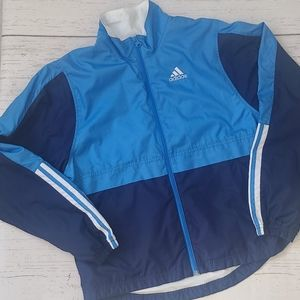 Adidas Blue Colorblock Jacket Size Small